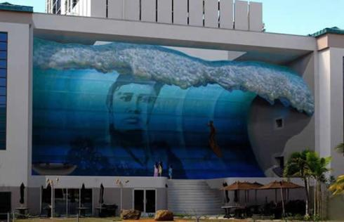 3d Mural WAVE