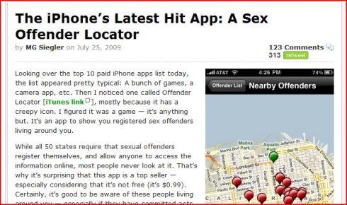 sex offender app