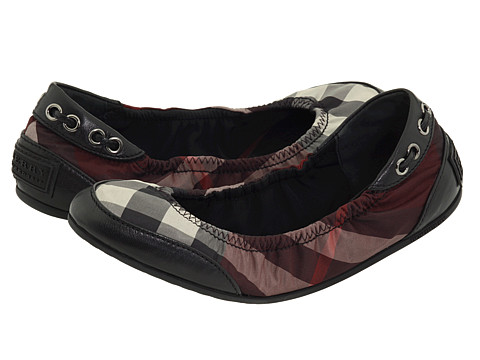 Burberry-Check Nylon Ballerinas